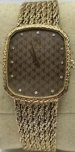 Gents Raymond Weil 18ct Gold Plated Wristwatch Diamond Markers Original Strap