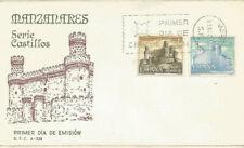 FDC Sobre Primer dia España Castillos Manzanares y Olite 1966