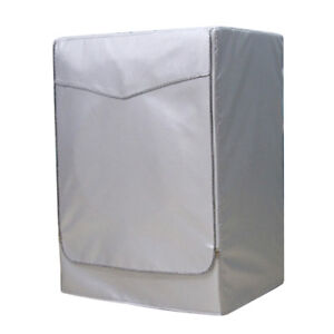 Dust Proof Top Washing Machine Dryer Sunscreen Cover Washer Silver Zip XL