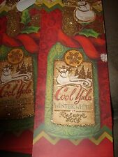 CHRISTMAS WINE BAGS LOT OF 4 COOL YULE