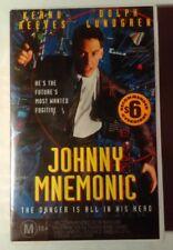 Johnny Mnemonic VHS 1995 Cyberpunk Robert Longo Keanu Reeves Roadshow Large Case