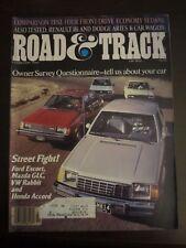 Road & Track Magazine February 1981 Ford Escort Mazda GLC VW Rabbit Accord (AQ)