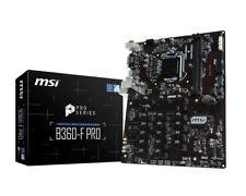 MSI B360-F PRO - ATX Motherboard for Intel Socket 1151 CPUs