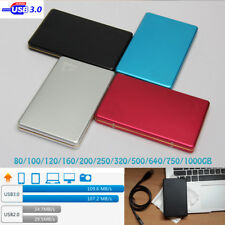Red Hard Drive Portable Laptop HDD Mobile Disk 1TB Aluminum USB3.0 External