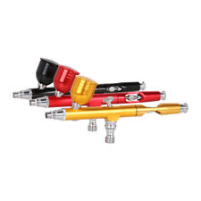 Dual Action Gravity Feed 0.3mm Spray Gun Airbush Nail Paint Tattoo Tool Kit 7cc