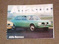 Autoprospekt ALFA ROMEO ALFASUD mit Gebrauchsspuren