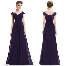 V-neck Long Bridesmaid Dresses Evening Formal Homecoming Gown 08633 Ever-Pretty Purple 4