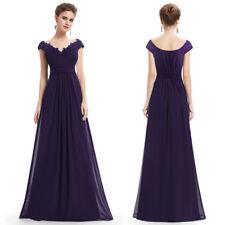 Women Long Bridesmaid Dress Cap Sleeve Evening Formal Dresses Homecoming Dress