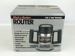 Vintage Black & Decker 1 1/2 HP Plunge Cut Router 7615 NOS Sealed NEW