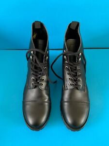 Will's Vegan Shoes - Black Work Boots - Size EU 36 / UK 6 with Box Worn Once WVS