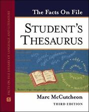 Student's Thesaurus (Facts on File) 3rd ed. Edition Brand New FSH