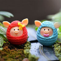 Mini Pig Ornament resin crafts Micro landscape fairy miniatures garden decor RS