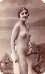 RPPC 1910s  French nude beauty  Miss Jeanne Juilla