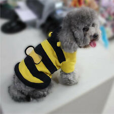 Pretty  Fancy Cat Dog Pet Bee Apparel Coat Hoodie Costume Outfit Clothes Puppy