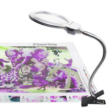 5D Diamond Painting Tools, LED Light with Magnifiers for Diamond Painting, 4X &