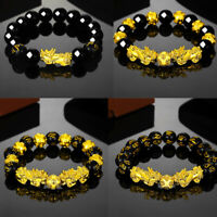 1Pc Wealth Good Luck Feng Shui Pixiu Chinese Bracelet Dragon Glass Jewelry Gifts