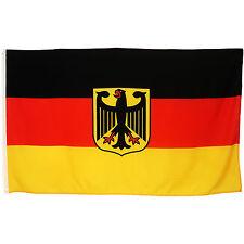 Fahne Deutschland mit Adler 90 x 150 cm deutsche Hiss Flagge Nationalflagge BRD