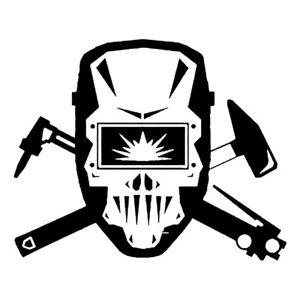 Vinyl Decal - Welding Helmet Skull