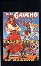 FICHE DE L'AFFICHE : LE GAUCHO - Tierney,Calhoun,Tourneur 1952 Way Of A Gaucho
