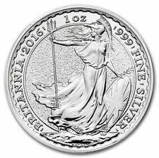 1 onza de plata - Britannia - 2 Pounds - 2016
