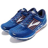 Brooks Transcend 5 V Blue Orange White Men Running Shoes Sneakers 110276 1D
