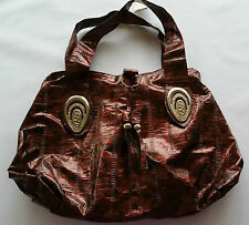 New Large Fashion women's Handbag Shoulder bag metallic Red pattern with tassles