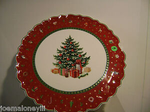 VILLEROY & BOCH PORCELAIN CHRISTMAS TREE DECORATIVE PLATE