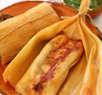 Tamales de Elote de Carne con Chile de Mexico