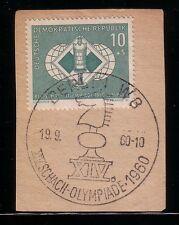 Germany: DDR, 1960; Scott N° B67 in fragment, Chess, Cancellation, EBA106