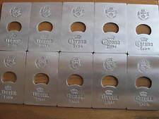 10 CORONA/CORONA LIGHT SOCCER CREDIT CARD SIZE METAL BOTTLE OPENER NEW