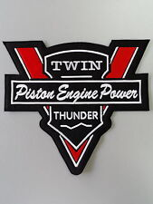 EMBROIDERED BIKER MOTORCYCLE BACK JACKET PATCH V-twin
