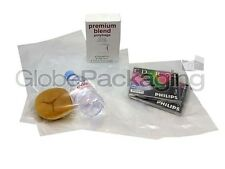 "500 x CLEAR 7x9"" POLYTHENE PLASTIC FOOD APPROVED BAGS 7"" x 9"" - 100 GAUGE *FAST*"
