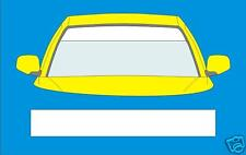 MATT WHITE WINDSCREEN SUNSTRIP 1360mm x 190mm  CAR  DECALS GRAPHICS  STICKERS
