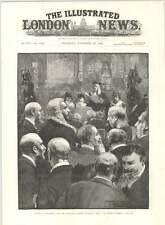 1890 APERTURA PARLAMENTO Queens discorso fedele Commons AL BAR