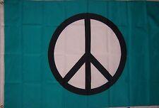 NEW 2x3ft BLUE PEACE SIGN ANTI WAR FLAG better quality usa seller