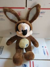 """Disney Store Mickey Mouse Brown Easter Bunny Soft Plush 18"""""""