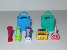 Shopkins Snippy Scissors Glamour Squad Lizzy Lace Up Basket LOT Red Shoes Purple