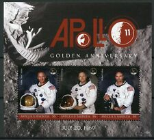 Antigua & Barbuda 2018 MNH Apollo 11 Moon Landing 3v M/S Space Stamps
