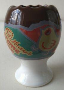 Vintage Retro Cadbury's Creme Egg Chocolate Novelty Ceramic Egg Cup Easter