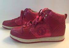 Baby Phat Women's Pink Sparkle High Top Fashion Sneakers Size 10 MINT