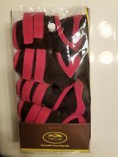 Pet Life Paw Wear Thinsulate Dog Winter Black & Pink Shoes Boots Size MEDIUM