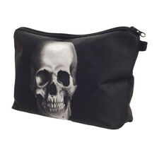Kit Polyester Zipper Pouch Skull Cosmetic Bag 3D Printed Travel Makeup Bag