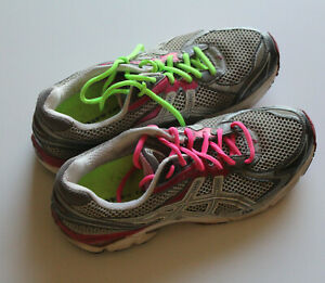 Asics Gel Kayano 19 T155N running shoes Duomax silver/pink size US 11 EU 43.5