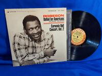 Paul Robeson LP Ballad for Americans & Carnegie Hall Concert, Vol 2 Vanguard