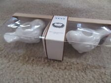 Mudpie Nest Mini White/Brown Bird Taper Holders - Set of 2 - #4984022 - NIB!