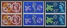 Great Britain 1961 Sc# 382-84 set Cept emblem Elizabeth Doves pairs Mnh