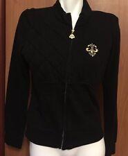 Dereon Black Child Girl Teen Youth zip up Jacket Golden Logo XL Women Small