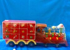 Treno CALENDARIO AVVENTO legno cm 45 addobbo natalizio NATALE