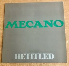 MECANO - RETITLED - NEW WAVE,AVANT GARDE,MINIMAL WAVE - FRENCH PRESSING - NM/NM