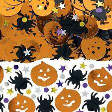 HALLOWEEN Orange Pumpkins Black Spiders Confetti Party Decorations Sprinkles